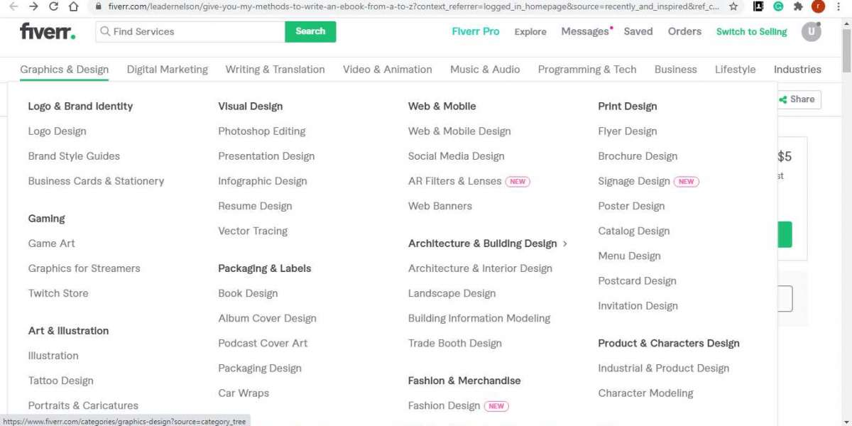 Fiverr Gigs Categories Part 1